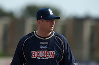 23 May 2009: Robin Roy of Rouen is seen during the 2009 challenge de France, a tournament with the best French baseball teams - all eight elite league clubs - to determine a spot in the European Cup next year, at Montpellier, France. Rouen wins 6-2 over La Guerche.