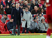 27th November 2019; Anfield, Liverpool, Merseyside, England; UEFA Champions League Football, Liverpool versus SSC Napoli ; SSC Napoli manager Carlo Ancelotti reacts to the action from the technical area - Editorial Use
