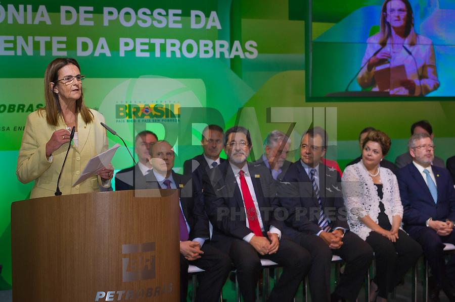 RIO DE JANEIRO, RJ, 13 DE FEVEREIRO DE 2012 - Cerimônia de Posse da nova Presidente da Petrobrás  - A nova Presidente da Petrobras, Graça Foster, discursa na cerimônia de tomada de posse, na sede da Petrobras. FOTO GLAICON EMRICH - NEWS FREE