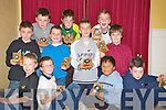Pictured after receiving their awards at the Killarney South Community games in the Dromhall on Sunday night were dean Farrell, Luke O'Donopghue, Conor Leahy, Michael Casey, David Shaw, Mark Harnett, Dylan O'Sullivan, Killian Fleming, David Harnett, Jack Lenihan, and Tony Clifford.   Copyright Kerry's Eye 2008