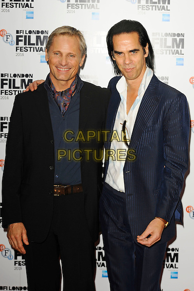 LONDON, ENGLAND - OCTOBER 18: Nick Cave and Viggo Mortensen attend 'Far From Men' Screening at the 58th BFI London Film Festival at Vue West End Cinema, Leicester Square on October 18, 2014 in London, England.<br /> CAP/MAR<br /> &copy; Martin Harris/Capital Pictures