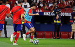 Atletico de Madrid's Joao Felix during La Liga match. Aug 18, 2019. (ALTERPHOTOS/Manu R.B.)Atletico de Madrid's Joao Felix warms up before during the Spanish La Liga match between Atletico de Madrid and Getafe CF at Wanda Metropolitano Stadium in Madrid, Spain