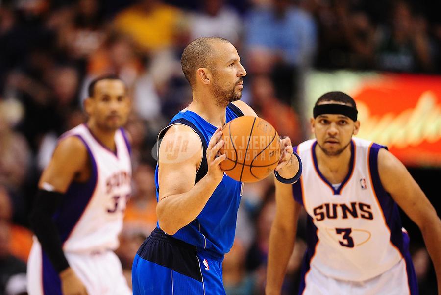 Mar. 27, 2011; Phoenix, AZ, USA; Dallas Mavericks guard (2) Jason Kidd against the Phoenix Suns at the US Airways Center. The Maverick defeated the Suns 91-83. Mandatory Credit: Mark J. Rebilas-