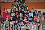 Junior infants from Ardfert who made up parcels for Adapt on Friday in their school...............   Copyright Kerry's Eye 2008