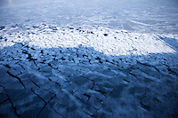 The ice-covered Sea of Japan seen from the Eastern Dream ferry close to the port of Vladivostok.