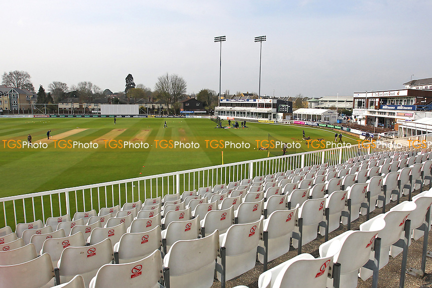 General view of the ground ahead of the start of play of Essex CCC vs Gloucestershire CCC, Specsavers County Championship Division 2 Cricket at the Essex County Ground on 11th April 2016