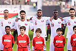 Players of Qatar lines up prior to the AFC Asian Cup UAE 2019 Quarter Finals match between Qatar (QAT) and South Korea (KOR) at Zayed Sports City Stadium  on 25 January 2019 in Abu Dhabi, United Arab Emirates. Photo by Marcio Rodrigo Machado / Power Sport Images