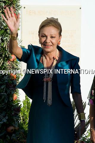 "Farah Diba_.The Wedding of Prince Nikolaos and Tatiana Blatnik attended by many members of European Royalty at St Nikolaos Church on the Island of Spetses_Grecce_24/08/2010.Mandatory Credit Photo: ©DIAS-NEWSPIX INTERNATIONAL..**ALL FEES PAYABLE TO: ""NEWSPIX INTERNATIONAL""**..IMMEDIATE CONFIRMATION OF USAGE REQUIRED:.Newspix International, 31 Chinnery Hill, Bishop's Stortford, ENGLAND CM23 3PS.Tel:+441279 324672  ; Fax: +441279656877.Mobile:  07775681153.e-mail: info@newspixinternational.co.uk"