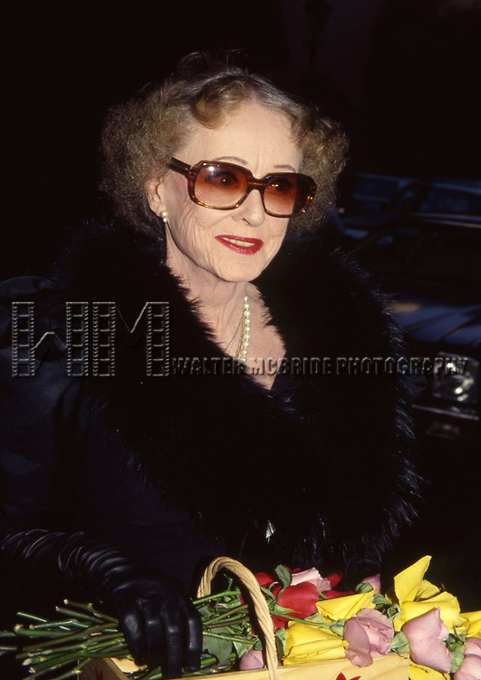Bette Davis attends Gala Honoring Aaron Spelling on June 23, 1983 at the Beverly Wilshire Hotel in Los Angeles, California.