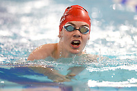 Picture by Richard Blaxall/SWpix.com - 14/04/2018 - Swimming - EFDS National Junior Para Swimming Champs - The Quays, Southampton, England - George Lewis of Runnymede during the Men's Open 100m Breaststroke
