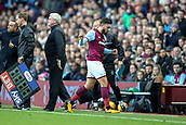 4th November 2017, Villa Park, Birmingham, England; EFL Championship football, Aston Villa versus Sheffield Wednesday; Robert Snodgrass of Aston Villa not happy at being substituted