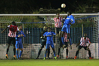 Brian Moses of Redbridge goes close to a goal during Redbridge vs Clapton, Essex Senior League Football at Oakside Stadium on 14th November 2017