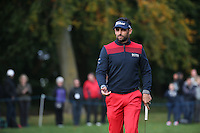 Lee Slattery (ENG) added more points to his Ryder Cup tally during the Final Round of the British Masters 2015 supported by SkySports played on the Marquess Course at Woburn Golf Club, Little Brickhill, Milton Keynes, England.  11/10/2015. Picture: Golffile | David Lloyd<br /> <br /> All photos usage must carry mandatory copyright credit (&copy; Golffile | David Lloyd)