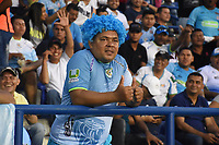 MONTERIA - COLOMBIA, 10-04-2018:Hincha de  Jaguares de Córdoba  de Colombia contra el  Boston River de Uruguay   en partido por la Copa Conmebol  Sudamericana llave 16 , jugado en el estadio Municipal  Jaraguay de Monteria. / Fans of  Jaguares of Cordoba  of Colombia agaisnt Boston River of Uruguay  in match for Conmebol Sudamericana Cup , key 16,played in the  Municipal de Monteria Stadium. Photo: VizzorImage / Andrés Felipe López Vargas / Contribuidor