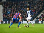 2nd December 2017, The Hawthorns, West Bromwich, England; EPL Premier League football, West Bromwich Albion versus Crystal Palace; Kieran Gibbs of West Bromwich Albion on the ball watched by Joel Ward of Crystal Palace