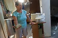 Danni nelle case dopo l'esplosione