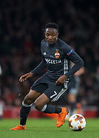 Ahmed Musa (on loan from Leicester City) of CSKA Moscow during the UEFA Europa League QF 1st leg match between Arsenal and CSKA Moscow  at the Emirates Stadium, London, England on 5 April 2018. Photo by Andrew Aleksiejczuk / PRiME Media Images.