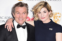 Bradley Walsh and Jodie Whittaker in the winners room for the BAFTA TV Awards 2018 at the Royal Festival Hall, London, UK. <br /> 13 May  2018<br /> Picture: Steve Vas/Featureflash/SilverHub 0208 004 5359 sales@silverhubmedia.com