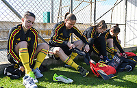20190228 - LARNACA , CYPRUS : Belgian Jody Vangheluwe , Lenie Onzia , Lisa Lichtfus and Lola Wajnblum pictured during a Matchday -1 training from The Belgian Red Flames prior to their game against the women team of Austria , on Thursday 28 February 2019 at the Alpha Sports Grounds in Larnaca , Cyprus . This will be the second game in group C for Belgium during the Cyprus Womens Cup 2019 , a prestigious women soccer tournament as a preparation on the European Championship 2021 qualification duels. PHOTO SPORTPIX.BE | DAVID CATRY