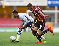 Preston North End's André Green battles with Bradford City's Tyler French<br /> <br /> Photographer Dave Howarth/CameraSport<br /> <br /> The Carabao Cup First Round - Bradford City v Preston North End - Tuesday 13th August 2019 - Valley Parade - Bradford<br />  <br /> World Copyright © 2019 CameraSport. All rights reserved. 43 Linden Ave. Countesthorpe. Leicester. England. LE8 5PG - Tel: +44 (0) 116 277 4147 - admin@camerasport.com - www.camerasport.com