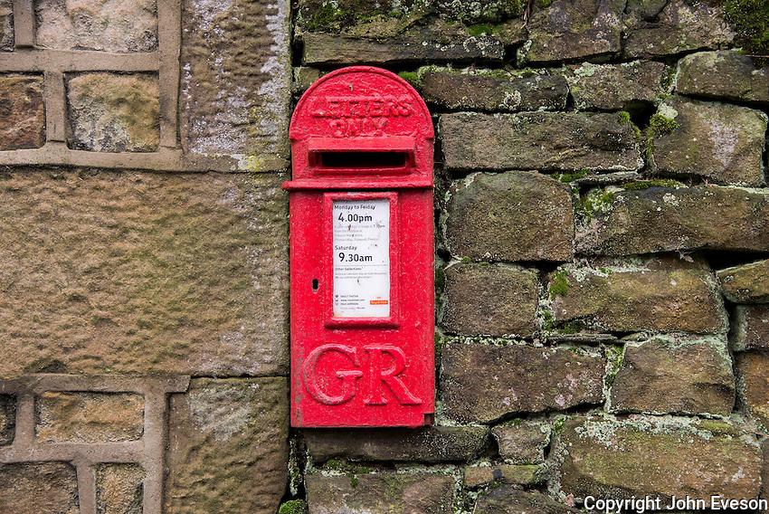 Georgian letterbox at Bleasdale, Lancashire.