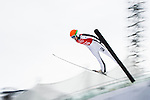 Elena Runggaldier of Italy jumps during the Women's Normal Hill Individual training session of the 2014 Sochi Olympic Winter Games at Russki Gorki Ski Juming Center on February 9, 2014 in Sochi, Russia. Photo by Victor Fraile / Power Sport Images