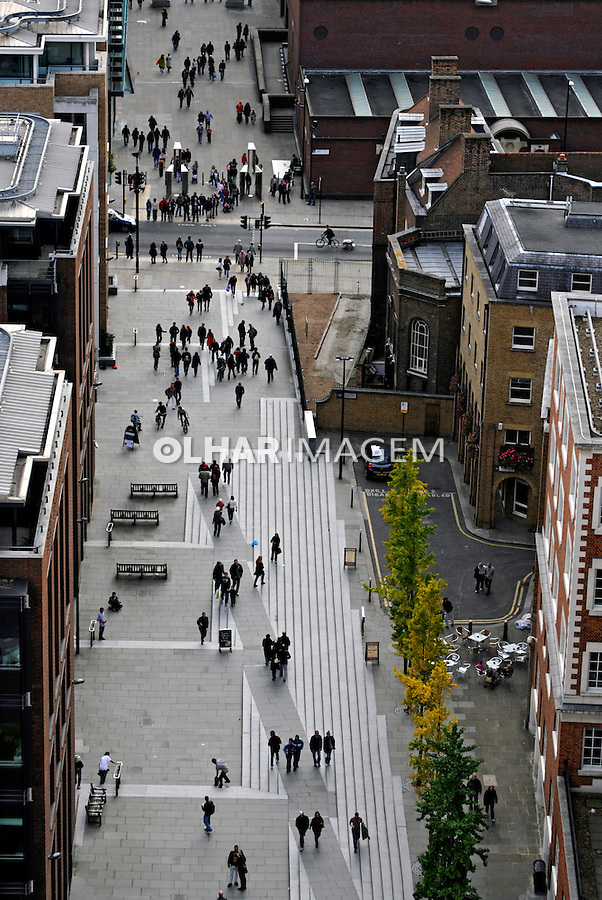 Calçadão na cidade de Londres. Inglaterra. 2008. Foto de Juca Martins.