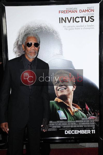 """Morgan Freeman<br /> at the """"Invictus"""" Los Angeles Premiere, Academy of Motion Picture Arts and Sciences, Beverly Hills, CA.  12-03-09<br /> David Edwards/Dailyceleb.com 818-249-4998"""
