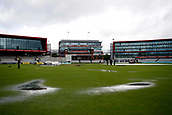 8th September 2017, Emirates Old Trafford, Manchester, England; Specsavers County Championship, Division One; Lancashire versus Essex; Pools of water lie on the outfield at Old Trafford and the covers are still on with no sign of any play at the scheduled start time of 1030 this morning