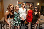 Ciara O'Sullivan (Castleisland), Emily McElligott (Tralee), Grace O'Connor (Tralee), Lisa Barrett (Causeway) and Debra Canty (Causeway)  at the Causeway Strictly Come dancing in the Ballyroe Heights Hotel on Friday night.