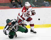 Kyle Reeds (Dartmouth - 12), Danny Biega (Harvard - 9) - The Harvard University Crimson defeated the Dartmouth College Big Green 4-1 (EN) on Monday, January 18, 2010, at Bright Hockey Center in Cambridge, Massachusetts.