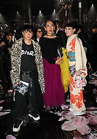 Yuya Nara, Mika Ninagawa and Mademoiselle Yulia in the front row<br /> <br /> Dior Homme show, Front Row, Pre Fall 2019, Tokyo, Japan - 30 Nov 2018<br /> CAP/SAT<br /> &copy;Satomi Kokubun/Capital Pictures