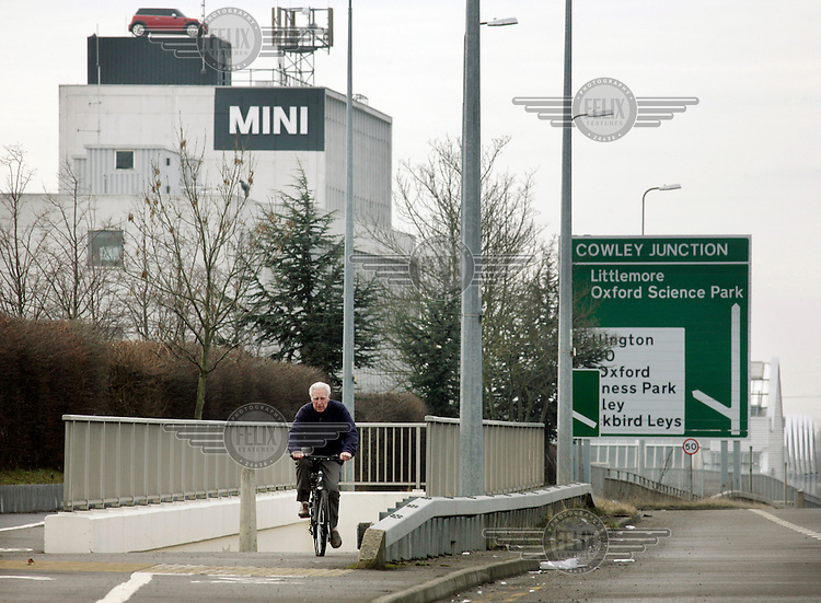The BMW Mini plant at Cowley in Oxfordshire, which closed for a week in 02/2009 before 850 job losses were announced.