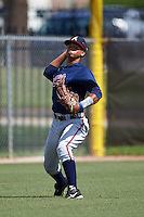 Atlanta Braves Leudys Baez (71) during practice before an instructional league game against the Houston Astros on October 1, 2015 at the Osceola County Complex in Kissimmee, Florida.  (Mike Janes/Four Seam Images)
