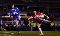 Stewart Downing of Middlesbrough takes a flying shot on goal during the Sky Bet Championship match between Birmingham City and Middlesbrough at St Andrews, Birmingham, England on 6 March 2018. Photo by Bradley Collyer / PRiME Media Images.