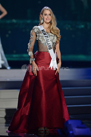 MIAMI, FL - JANUARY 21: Miss New Zealand Rachel Millns participtates in The 63rd Annual Miss Universe Preliminary Show at Florida International University on January 21, 2015 in Miami, Florida. Credit: mpi04/MediaPunch ***NO NY DAILIES OR NEWSPAPERS***