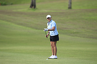 Cristie Kerr (USA) in action on the 1st during Round 3 of the HSBC Womens Champions 2018 at Sentosa Golf Club on the Saturday 3rd March 2018.<br /> Picture:  Thos Caffrey / www.golffile.ie<br /> <br /> All photo usage must carry mandatory copyright credit (&copy; Golffile | Thos Caffrey)