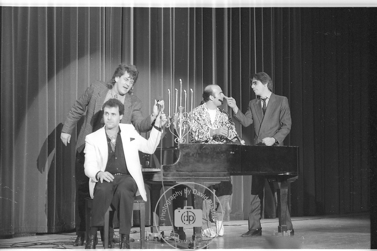 Allan Stephan, Lenny Clarke, Carl Labove, Richard Belzer at the Dunes Comedy Store 1987.