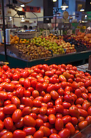 Red Roma, Tomatoes, Urban, Downtown, Farm-fresh produce, fresh, fruits, Grand Central, Market, Los Angeles CA, Public, Southern California, meats, people, poultry, fresh, fish, Fruits