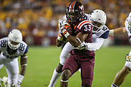 Landover, MD - September 3, 2017: Virginia Tech Hokies running back Deshawn McClease (33) scores a touchdown during game between Virginia Tech and WVA at  FedEx Field in Landover, MD.  (Photo by Elliott Brown/Media Images International)