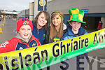 Mikey Lyne, Marie Hennessy, Caoiafhionn Cullinane and Jimmy O'Grady Castkegregory fans at the All Ireland Junior Club Championship at Croke park on Sunday..