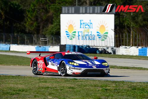 24-25 February, 2016, Sebring, Florida USA<br /> 66, Ford, GT, GTLM, Joey Hand, Dirk Muller, Sebastien Bourdais<br /> &copy;2016, Richard Dole<br /> LAT Photo USA
