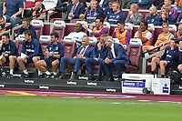 West Ham bench during West Ham United vs Manchester City, Premier League Football at The London Stadium on 10th August 2019
