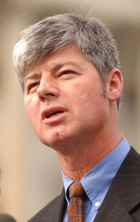 Stupak112801 - Rep. Bart Stupak, D-Mich., attends a press conference at the House Triangle calling for the Senate to stop human cloning.