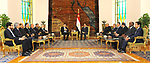 Egyptian President Abdel Fattah al-Sisi meets with the Chairman of the Libyan Presidential Council Fayez Al Sarraj, in Cairo, Egypt, on December 10, 2017. Photo by Egyptian President Office