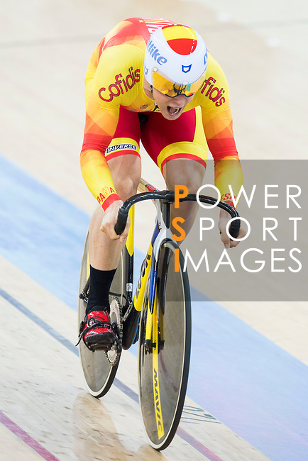 Jose Moreno Sanchez of the team of Spain competes in Men's Team Sprint - Qualifying match as part of the 2017 UCI Track Cycling World Championships on 12 April 2017, in Hong Kong Velodrome, Hong Kong, China. Photo by Victor Fraile / Power Sport Images