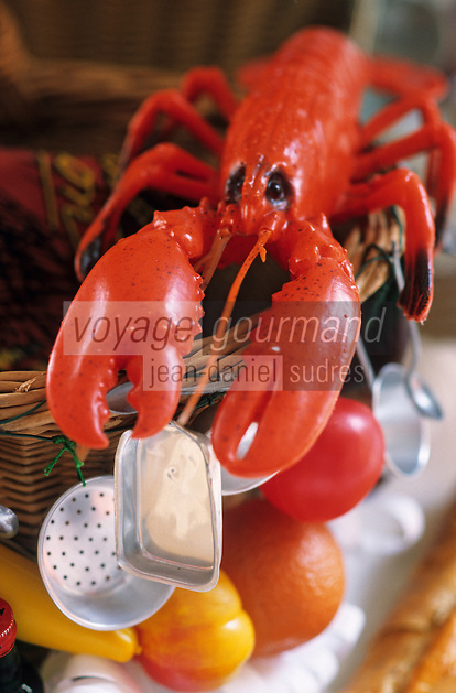 Europe/France/DOM/Antilles/Petites Antilles/Guadeloupe/Pointe-à-Pitre : Fête des cuisinières - Panier des cuisinnières - Homard