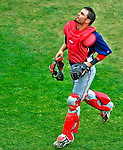 6 March 2009: Washington Nationals' catcher Wil Nieves in action during a Spring Training game against the Baltimore Orioles at Fort Lauderdale Stadium in Fort Lauderdale, Florida. The Orioles defeated the Nationals 6-2 in the Grapefruit League matchup. Mandatory Photo Credit: Ed Wolfstein Photo