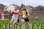 Asdee's Sean Keane and Danny O'Flynn of Charleville last Sunday in the Munster Novice final played in Knockaderry