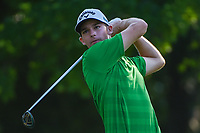 Aaron Wise (USA) watches his tee shot on 12 during round 2 of the Fort Worth Invitational, The Colonial, at Fort Worth, Texas, USA. 5/25/2018.<br /> Picture: Golffile | Ken Murray<br /> <br /> All photo usage must carry mandatory copyright credit (&copy; Golffile | Ken Murray)